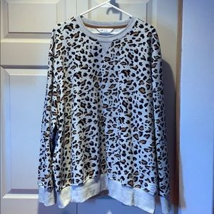 Cheetah print sweater with matching child sweater